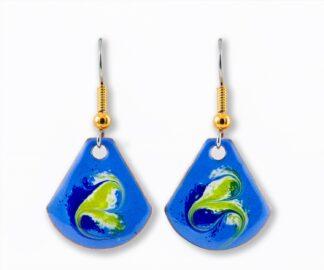 Lapis blue small drop earrings
