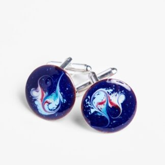 Hero cuff links electric blue