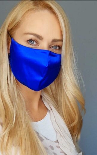 Cobalt blue mask