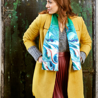Irish Green Silk Scarf