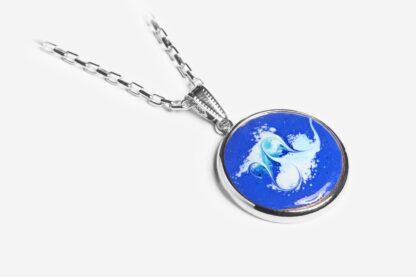 Wild Atlantic cobalt blue silver plated pendant