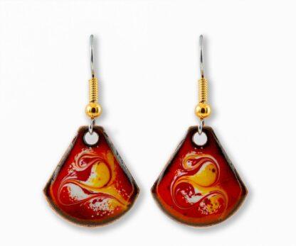 african sun small drop earrings
