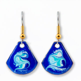 Wild Atlantic Cobalt Blue small drop earrings