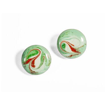 Celadon Green Stud Earrings
