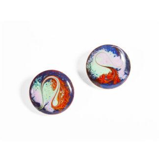 Electric Blue Stud Earrings