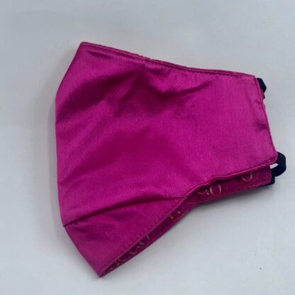 Meab petite size hot pink silk face mask