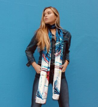 Sansa Silk neck scarf by Meab