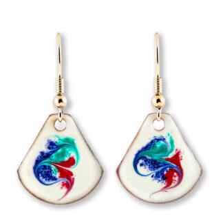 Khaleesi earrings on gold plate ear wires