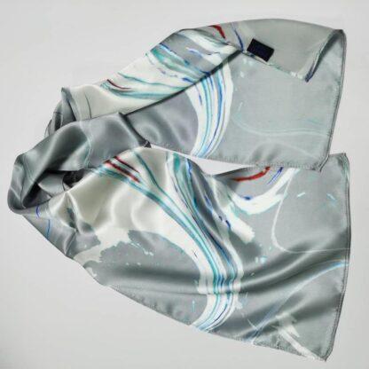 Khaleesi Grey silk neck scarf