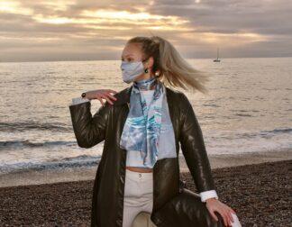 Khaleesi grey silk scarf