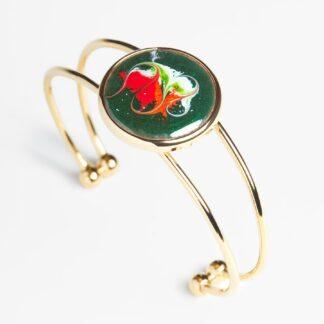 Melisandre large gold plated bracelet