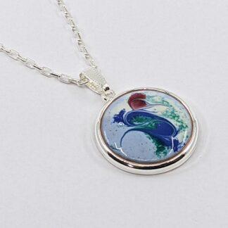 Capri silver plated pendant